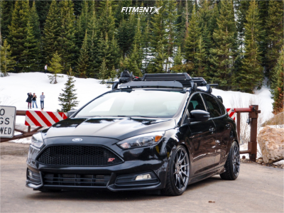 2016 Ford Focus - 18x8.5 35mm - Aodhan Ah09 - Coilovers - 215/40R18