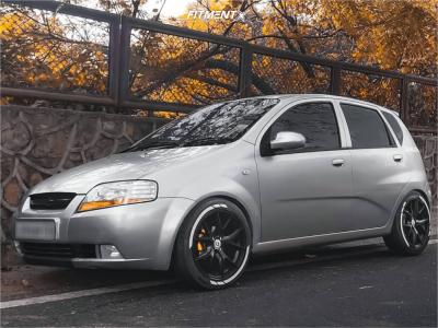 2008 Chevrolet Aveo5 - 17x7.5 35mm - HRE P101 - Stock Suspension - 245/45R17