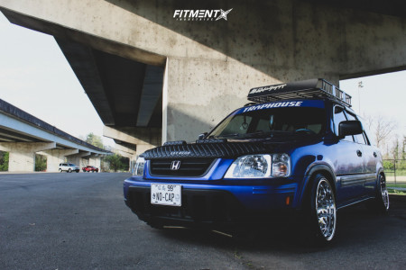 1999 Honda CR-V - 17x9 10mm - Whistler Kr7 - Coilovers - 195/40R17