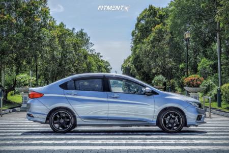 2019 Honda Fit - 17x7.5 38mm - Volk Te37 Ultra - Coilovers - 205/45R17