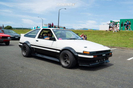 1984 Toyota Corolla - 15x9 -13mm - Watanabe Rs - Coilovers - 225/45R15