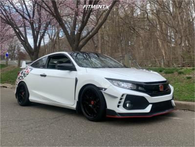 2018 Honda Civic - 18x9.5 35mm - ESR Cs11 - Lowering Springs - 215/40R18