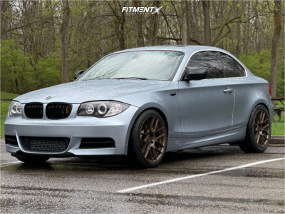 2011 BMW 135i - 18x8.5 35mm - Aodhan Ah-x - Stock Suspension - 225/40R18