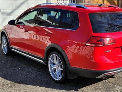 2017 Volkswagen Golf Alltrack - 18x8.5 45mm - Rotiform Flg - Stock Suspension - 235/45R18