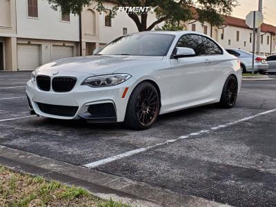 2015 BMW M235i - 18x8.5 35mm - Enkei Rs05-rr - Lowering Springs - 225/40R18
