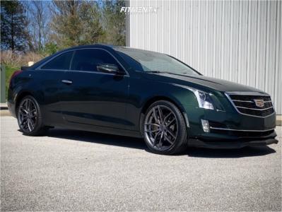 2015 Cadillac ATS - 19x8.5 35mm - Niche Vosso - Stock Suspension - 235/35R19