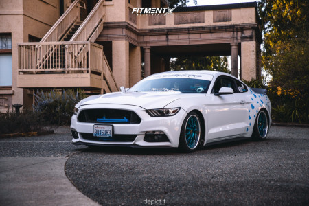 2015 Ford Mustang - 18x8.5 35mm - Work Vs Xx - Coilovers - 215/35R18