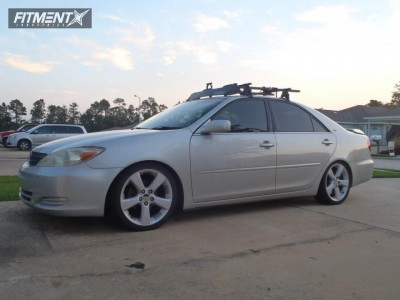 2003 Toyota Camry - 18x8 35mm - Toyota Lexus RX330 - Lowered Adj Coil Overs - 215/45R18
