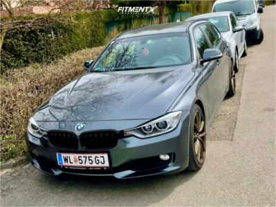 2014 BMW 320i - 19x8 32mm - Enkei Nagato - Lowering Springs - 225/40R19