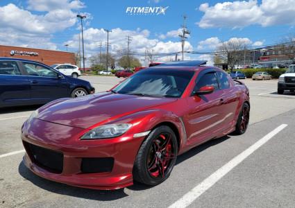 2006 Mazda RX-8 - 18x9 38mm - Marquee Luxury M3259 - Stock Suspension - 245/40R18