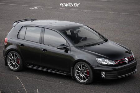 2012 Volkswagen GTI - 18x8 45mm - Enkei Ts-10 - Coilovers - 225/40R18