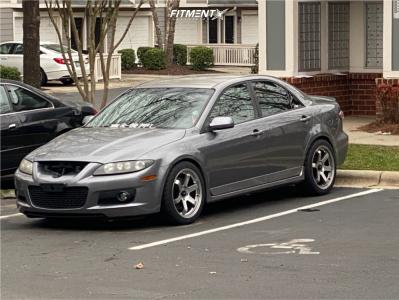 2006 Mazda 6 - 18x8.5 35mm - AVID1 AV6 - Lowered on Springs - 245/40R18