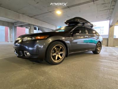2011 Acura TSX - 18x8.5 35mm - AVID1 Av6 - Stock Suspension - 235/45R18