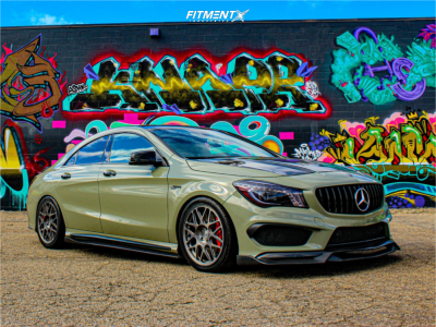 2014 Mercedes-Benz CLA45 AMG - 18x8.5 45mm - HRE R40 - Coilovers - 235/40R18