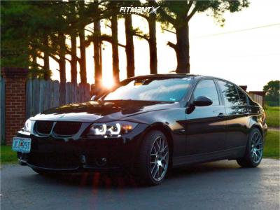 2007 BMW 335xi - 18x8.5 38mm - Enkei Raijin - Stock Suspension - 235/45R18