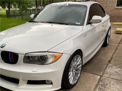 2012 BMW 128i - 18x8.5 35mm - Versus Racing Vs442 - Stock Suspension - 235/40R18