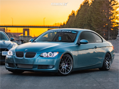2008 BMW 335i - 18x9.5 35mm - Aodhan Ah-x - Coilovers - 255/35R18