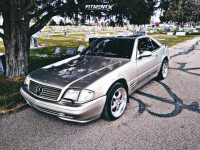 1999 Mercedes-Benz SL500 - 18x9 20mm - Privat Kup - Stock Suspension - 225/40R18