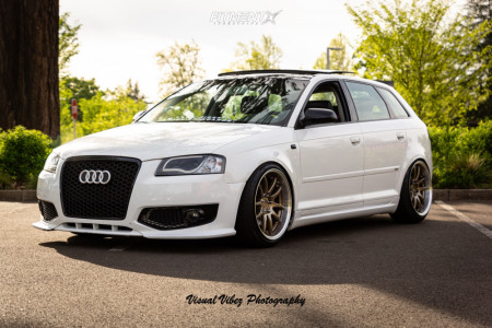 2007 Audi A3 - 18x9.5 30mm - Aodhan Ds02 - Coilovers - 225/40R18