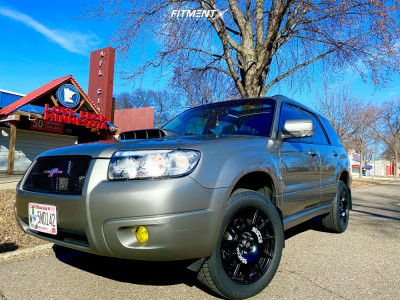 2006 Subaru Forester - 17x7.5 48mm - Sparco Terra - Lifted - 225/55R17