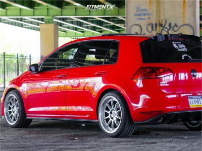 2015 Volkswagen GTI - 18x9.5 22mm - ESR Cs12 - Stock Suspension - 255/35R18