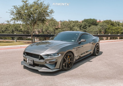 2020 Ford Mustang - 19x10 35mm - Project6gr Seven - Lowering Springs - 285/35R19