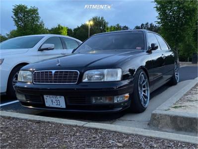 1997 Infiniti Q45 - 18x10 25mm - Aodhan Ah06 - Air Suspension - 225/40R18
