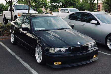 1995 BMW 325i - 17x8.5 13mm - ESM Esm-005r - Coilovers - 205/40R17
