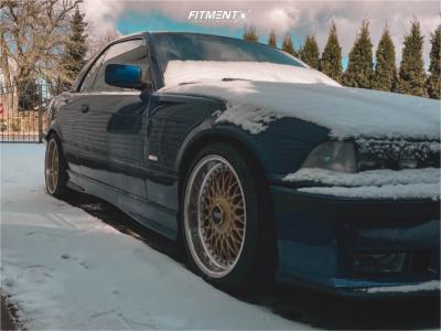 1995 BMW 328i - 17x8.5 45mm - BBS Rc090 - Stock Suspension - 205/40R17