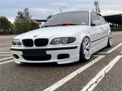 2002 BMW 325i - 18x9.5 35mm - ESR Rf2 - Air Suspension - 215/45R18