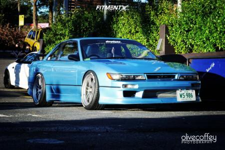 1989 Nissan 200SX - 18x9.5 15mm - Enkei Rpf1 - Coilovers - 245/40R18