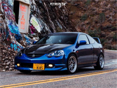 2004 Acura RSX - 17x9 35mm - Enkei Rpf1 - Coilovers - 235/40R17