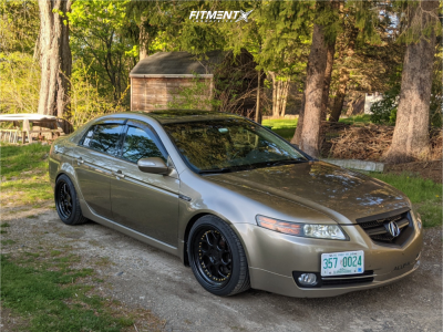 2008 Acura TL - 18x9.5 22mm - Aodhan DS01 - Coilovers - 235/40R18