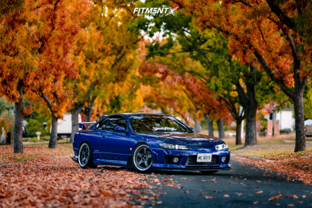 1999 Nissan 200SX - 18x9.5 19mm - Work Gt5 - Coilovers - 225/40R18