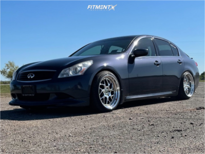 2009 Infiniti G37 - 19x9.5 22mm - Aodhan Ds01 - Coilovers - 235/35R19