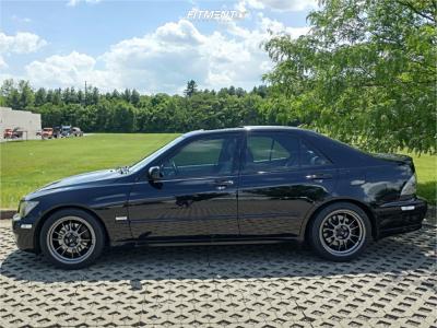 2004 Lexus IS300 - 17x8 35mm - Konig Hypergram - Lowering Springs - 215/45R17