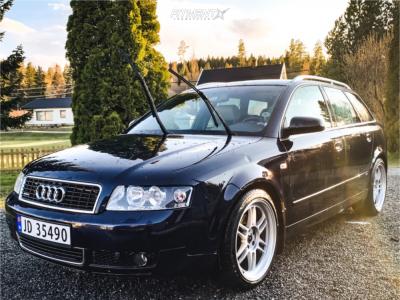 2004 Audi A4 Quattro - 18x8 35mm - Reps Enkei RPF1 Reps - Stock Suspension - 225/40R18