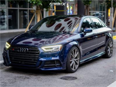 2017 Audi S3 - 19x8 45mm - Audi Speedline - Lowering Springs - 235/45R19