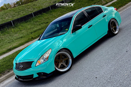 2012 Infiniti G37 - 19x11 22mm - Aodhan Ds05 - Coilovers - 255/35R19