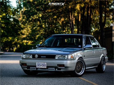 1990 Toyota Corolla - 15x8 20mm - MST Mt16 - Coilovers - 205/50R15