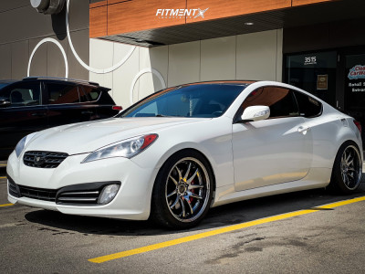 2011 Hyundai Genesis Coupe - 19x9.5 22mm - Aodhan Ds02 - Coilovers - 245/40R19