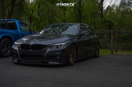 2017 BMW 330i xDrive - 19x8.5 40mm - XXR 559 - Coilovers - 235/35R19