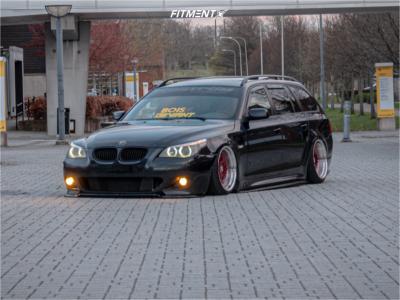 2007 BMW 530i - 18x9.5 35mm - 59°northwheels D-007 - Stock Suspension - 215/35R18