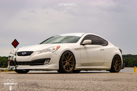 2011 Hyundai Genesis Coupe - 19x8.5 20mm - XXR 559 - Coilovers - 245/35R19