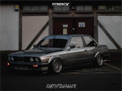 1987 BMW 320i - 15x8 35mm - Japan Racing Jr10 - Air Suspension - 195/45R15