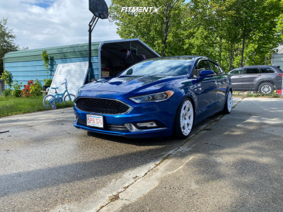 2017 Ford Fusion - 19x8.5 42mm - Rotiform Kb1 - Coilovers - 245/35R19