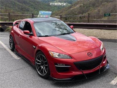 2010 Mazda RX-8 - 18x9.5 20mm - Work Emotion Cr Kiwami - Lowering Springs - 235/40R18