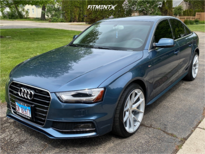 2015 Audi A4 - 19x9.5 35mm - Aodhan Aff7 - Stock Suspension - 245/35R19