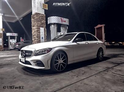 2020 Mercedes-Benz C300 - 20x10.5 35mm - Ravetti M11 - Stock Suspension - 245/35R20