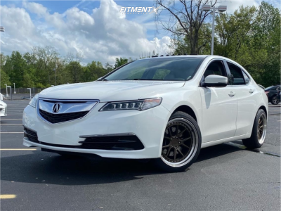 2015 Acura TLX - 19x9.5 37mm - Aodhan Ds08 - Stock Suspension - 245/45R19